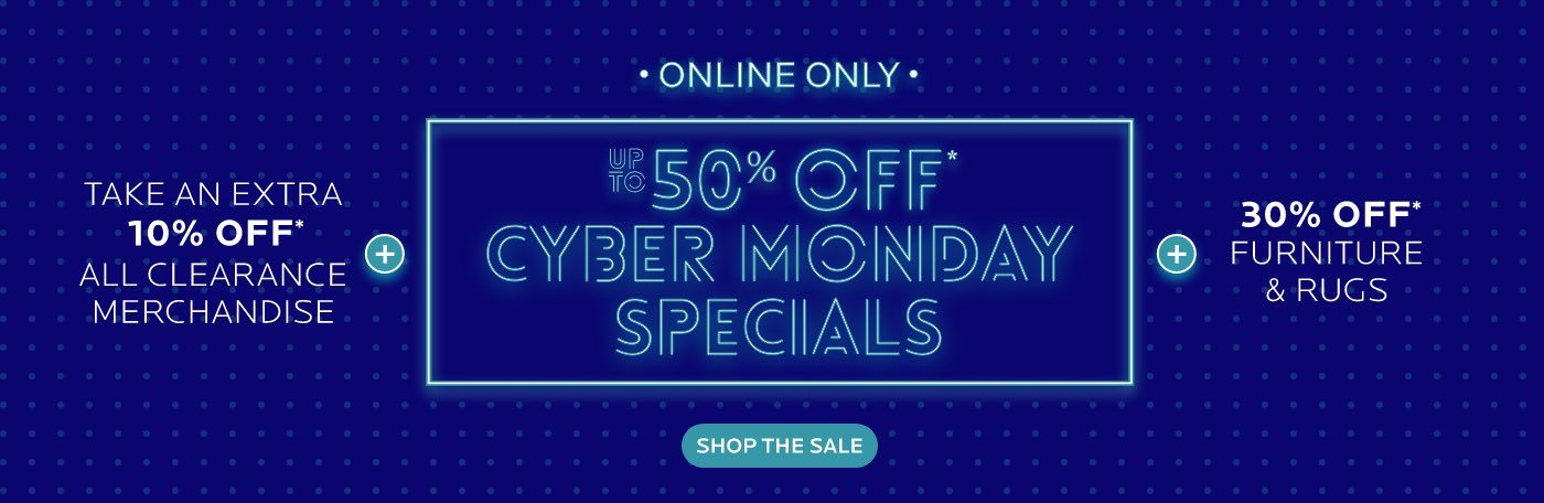 Up To 50% Off Cyber Monday Specials