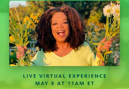 LIVE VIRTUAL EXPERIENCE MAY 8 AT 11AM ET