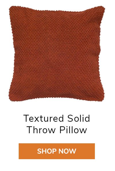 Textured Solid Throw Pillow | SHOP NOW