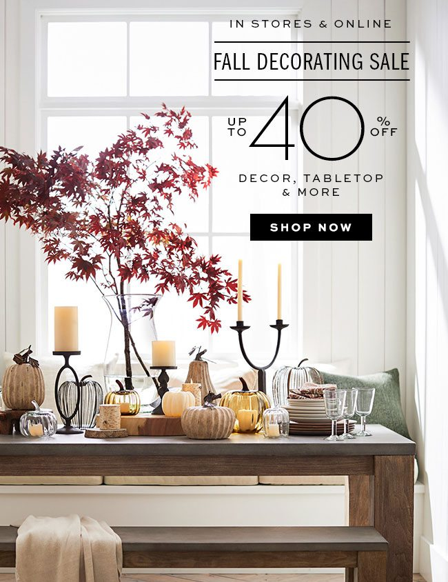 FALL DECORATING SALE UP TO 40% OFF