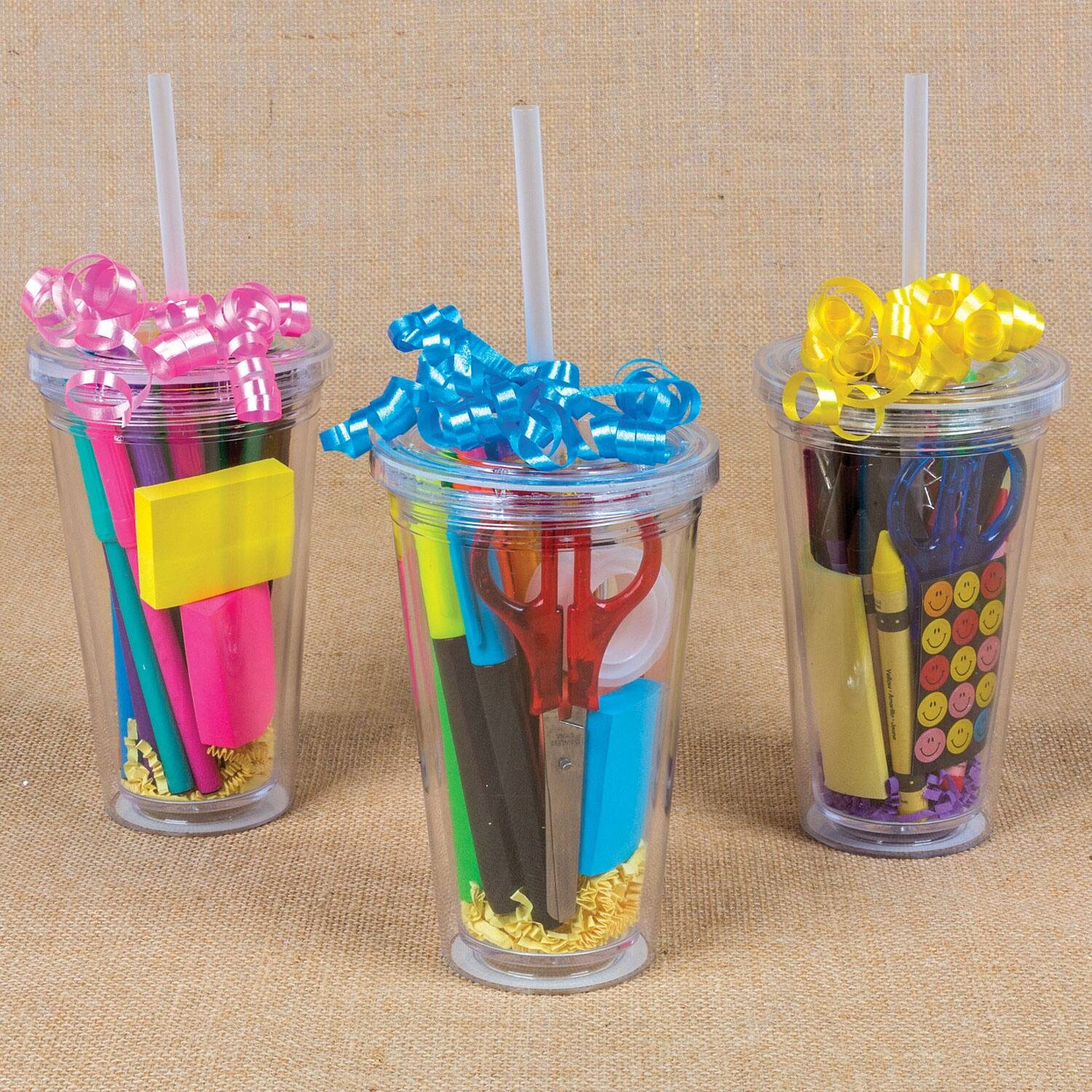 Double-Wall Clear Plastic Tumblers, 16 oz.