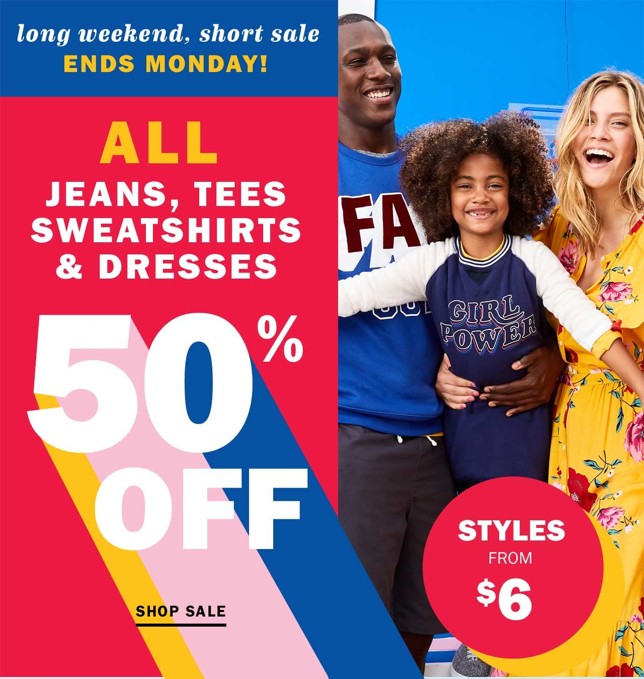💥 L-O-N-G weekend = EPIC Labor Day sale 💥 - Old Navy Email Archive