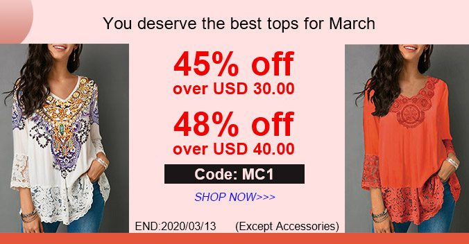 You deserve the best tops for March