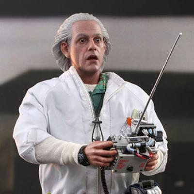 Doc Brown Deluxe Version (Back to the Future) Sixth Scale Figure by Hot Toys
