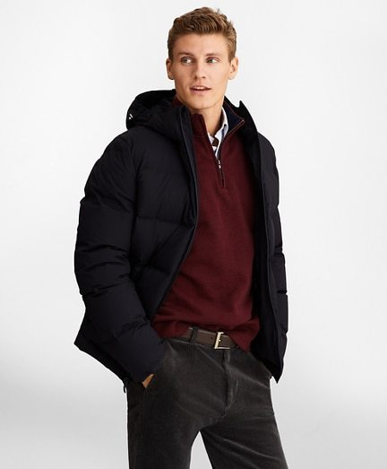 Quilted Down Puffer Coat