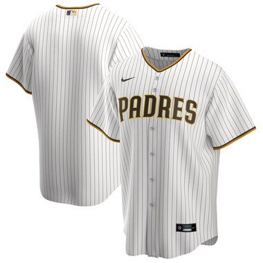 San Diego Padres Nike Home 2020 Replica Team Jersey - White/Brown