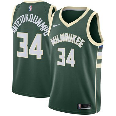 Giannis Antetokounmpo Milwaukee Bucks Nike Swingman Jersey Green - Icon Edition