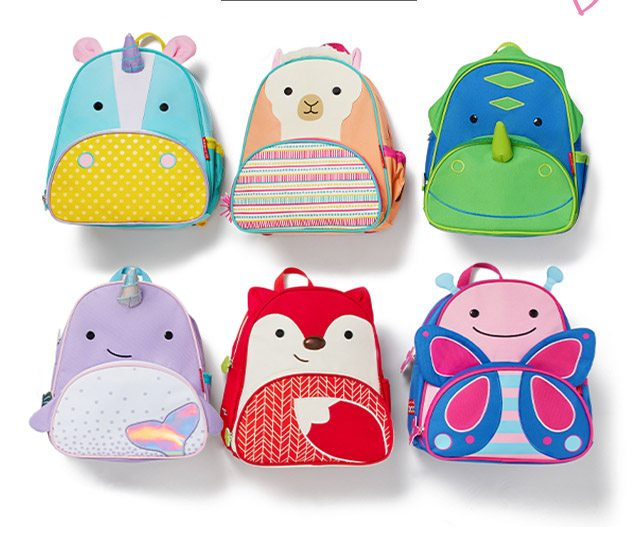 leaders of the (BACK)PACK   With over 15 cute critters to choose from, our ZOO® backpacks carry off a fun-filled day!