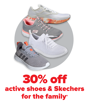 Daily Deals - 30% off active shoes & Skechers for the family.
