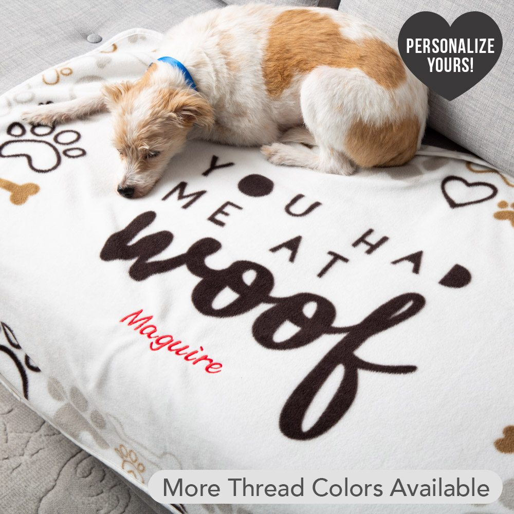 Image of Give Warmth™️ Buy One Give One Customizable Premium Dog Blanket: You Had Me At Woof