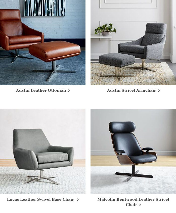 Marvelous We Miss You So We Just Put Austin Leather Swivel Armchair On Pabps2019 Chair Design Images Pabps2019Com