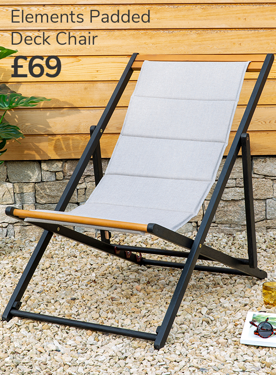 Elements Padded Deck Chair