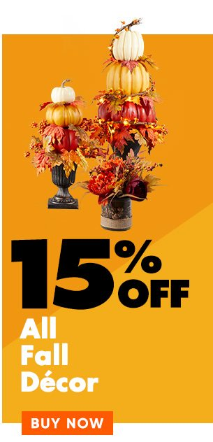15% off Fall Decor