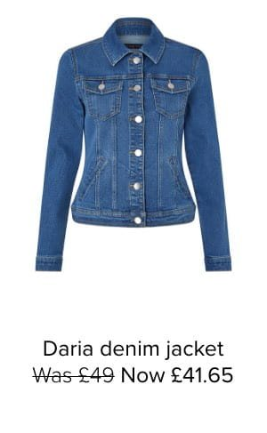 DARIA DENIM JACKET WITH ORGANIC COTTON AND RECYCLED POLYESTER
