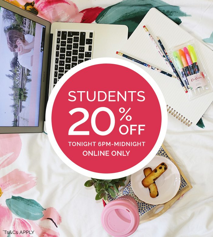 ef650920422d 20% off student discount | TONIGHT ONLY! - Cath Kidston Email Archive