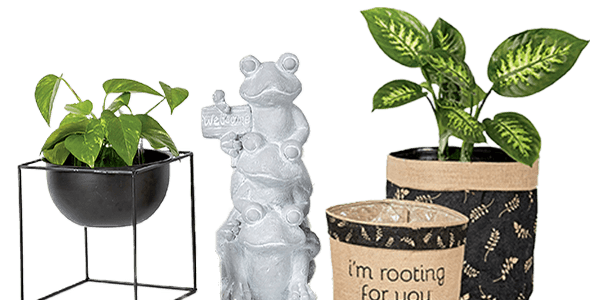 ENDS TOMORROW. 52% off your total purchase of In The Garden Decor -when you stack- 40% Sale + 20% Coupon.