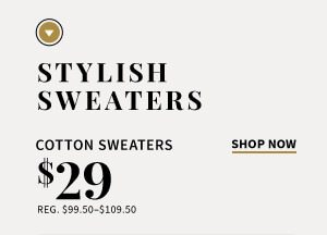 $29 Cotton Sweaters