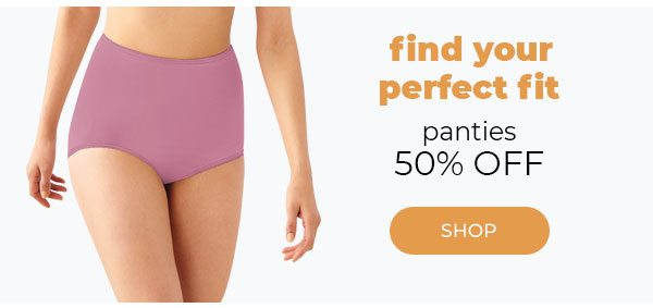 50% off Panties - Turn on your images