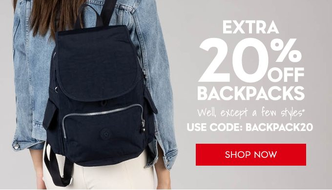 Extra 20% Off Backpacks. Shop Now