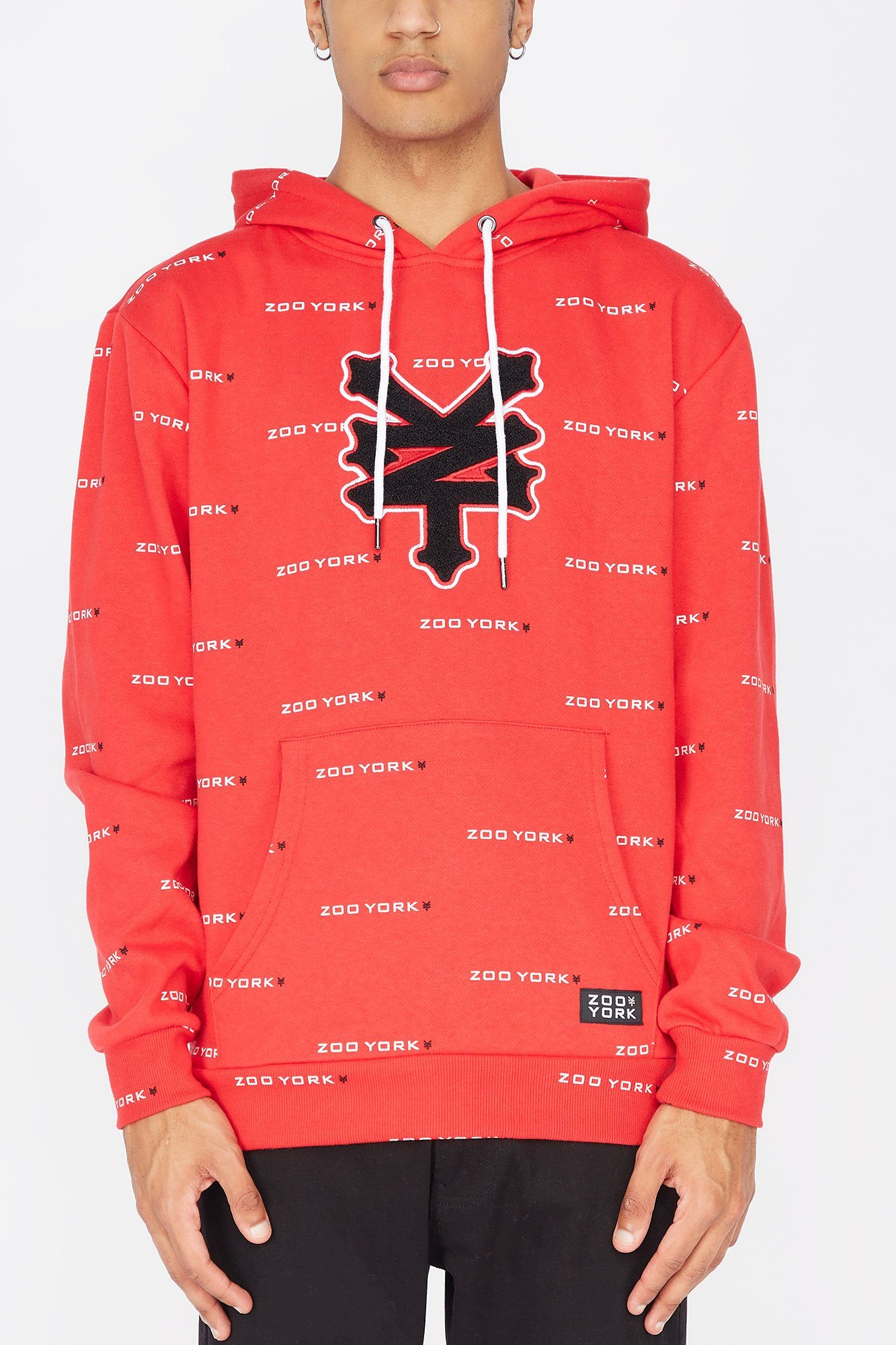 Image of Zoo York Mens Chenille Patch Hoodie