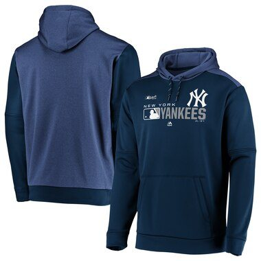 New York Yankees Majestic Authentic Collection Team Distinction Pullover Hoodie - Navy