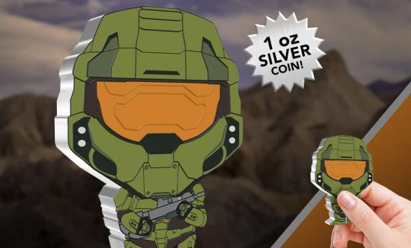 Master Chief 1oz Silver Coin Silver Collectible by New Zealand Mint