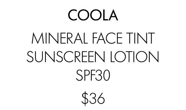 COOLA MINERAL FACE TINT SUNSCREEN LOTION SPF30 $36