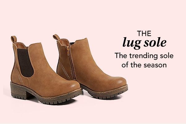 The lug sole: the trending sole of the season.