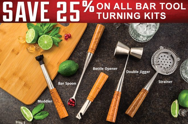 Save 25% on All Bar Tool Turning Kits
