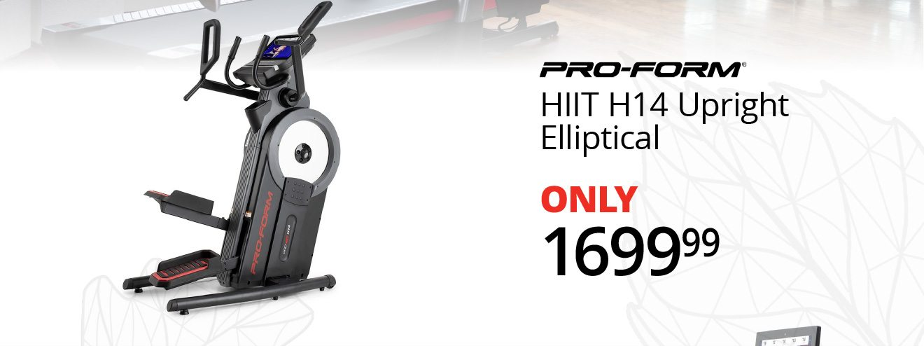 PRO-FORM® - HIIT H14 Upright Elliptical - ONLY $1699.99