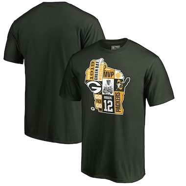 Aaron Rodgers Green Bay Packers NFL Pro Line by Fanatics Branded Player State T-Shirt - Green