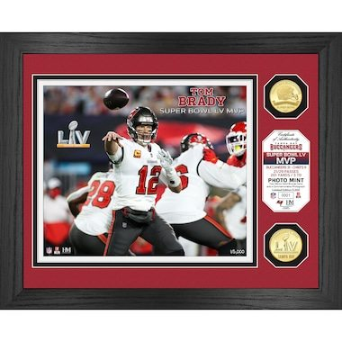 Tom Brady Tampa Bay Buccaneers Highland Mint Super Bowl LV Champions 13'' x 16'' MVP Bronze Coin Photo Mint
