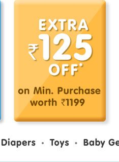Extra Rs. 125 OFF*