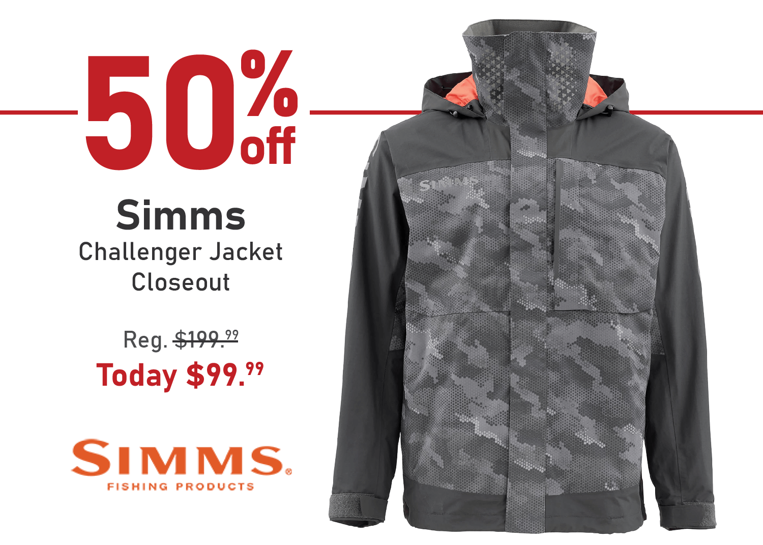 Take 50% off the Simms Challenger Jacket - Closeout