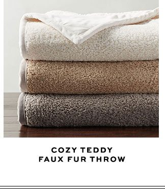 COZY TEDDY FAUX FUR THROW