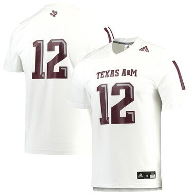 Texas A&M Aggies adidas Replica Football Jersey - White