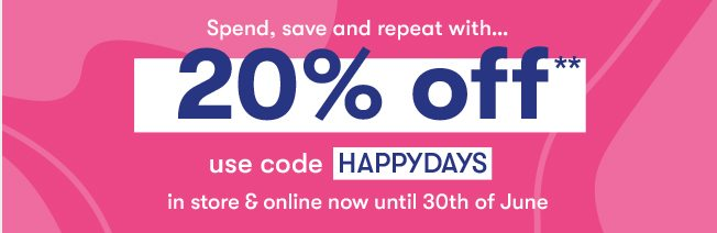 20% off when you spend £40