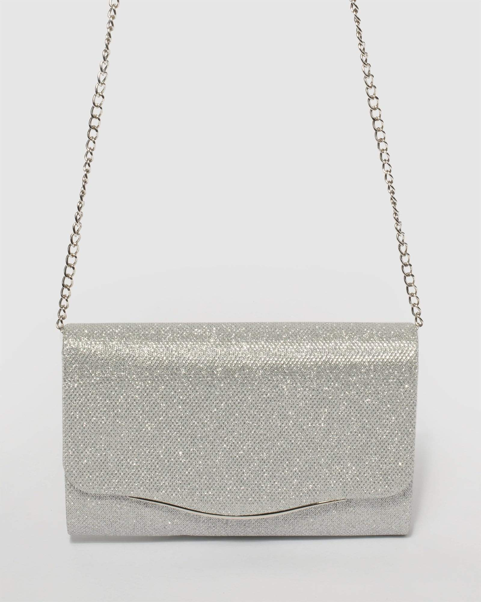 Image of Silver Adele Evening Clutch