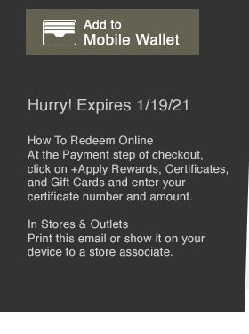 Add to your mobile wallet