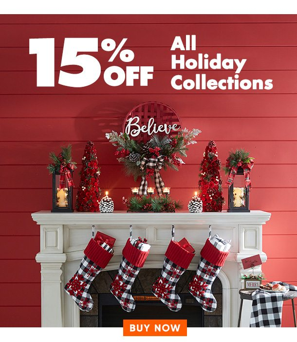 15% off Holiday Collections
