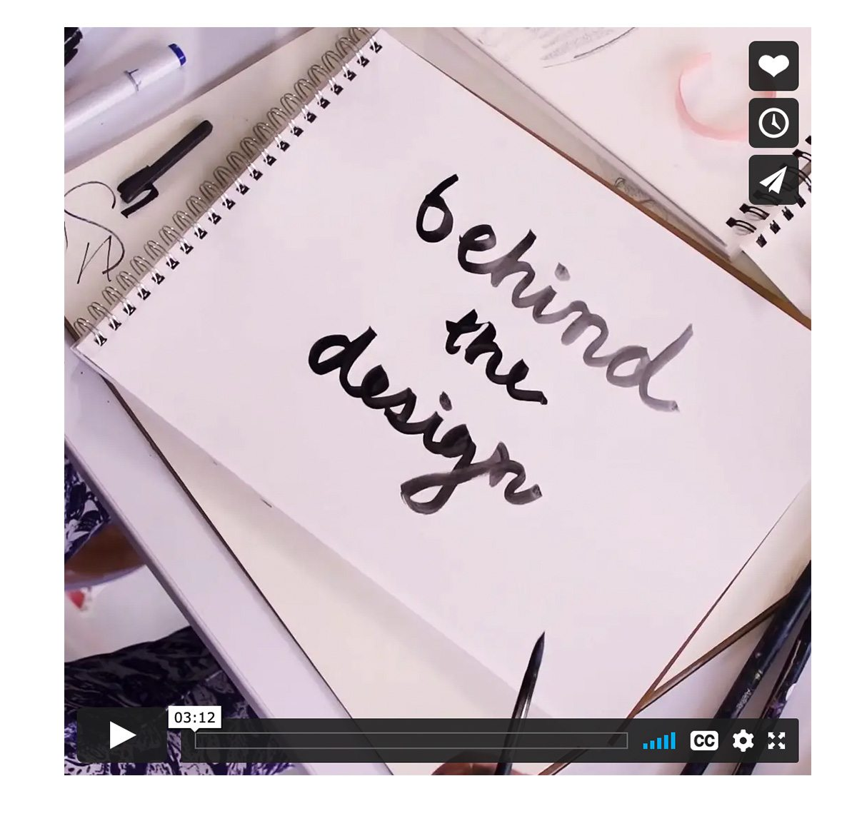 behind the design video!