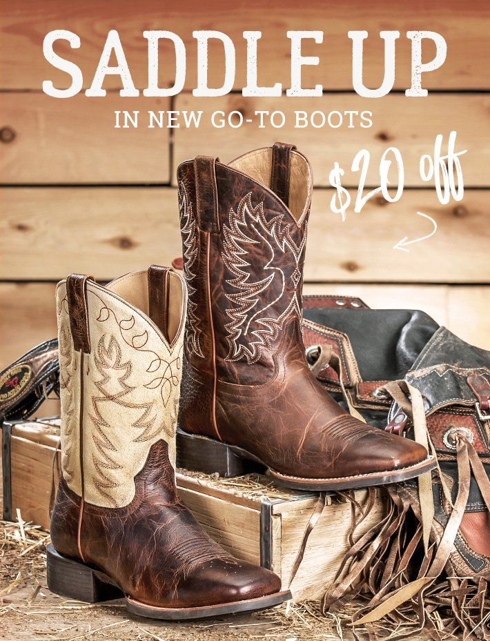 5abd5692056 Saddle Up With $20-$50 Off Boots - Boot Barn Email Archive