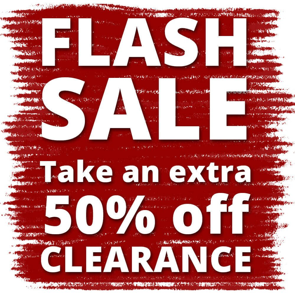 Flash Sale! 6PM to 11PM ONLY (Eastern Time) Take an extra 50% off Clearance Fresh markdowns added!