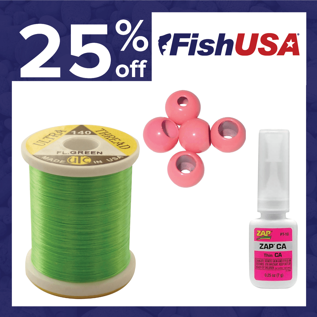 25% off Fly Tying Materials
