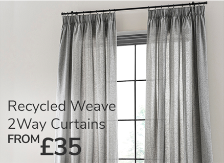 Recycled weave 2way curtains from £35