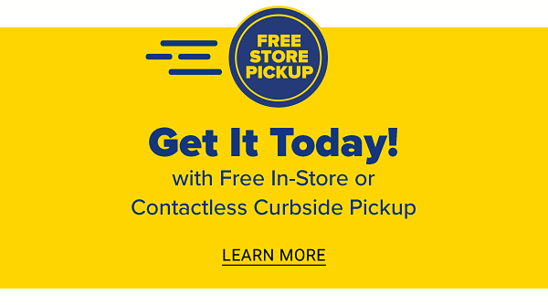 Get it today with Free In-store or Contactless Curbside Pickup - use on top of today's coupon. Learn More.