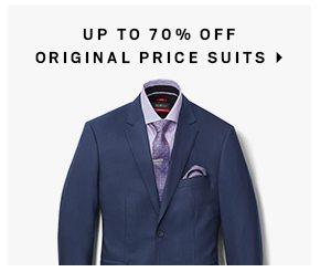 Up to 70% off original price suits