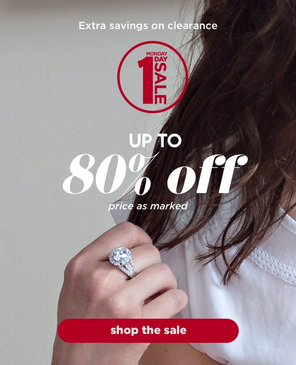 Extra savings on clearance up to 80% off. Price as marked
