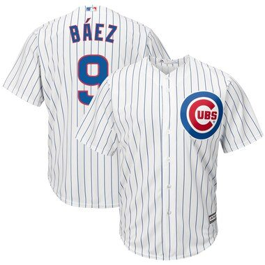 Javier Baez Chicago Cubs Majestic Cool Base Player Jersey - White