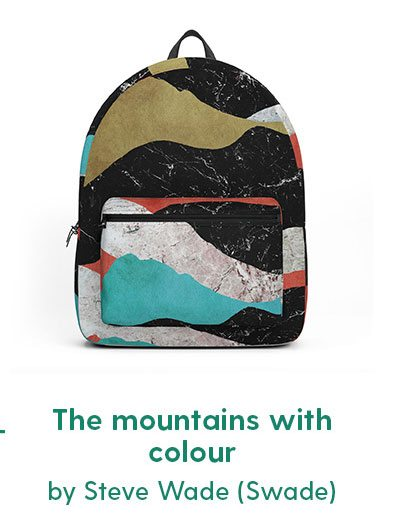 The mountains with colour Backpack by Steve Wade (Swade)